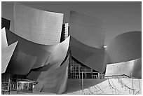 Main entrance of the Walt Disney Concert Hall. Los Angeles, California, USA ( black and white)