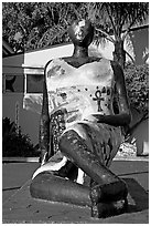 Sculpture, Watts Towers Art Center. Watts, Los Angeles, California, USA ( black and white)