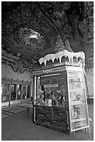 Box office of El Capitan Theatre. Hollywood, Los Angeles, California, USA ( black and white)