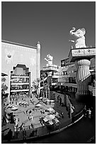 Hollywood and Highland shopping and entertainment complex. Hollywood, Los Angeles, California, USA ( black and white)
