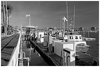 Harbor. Marina Del Rey, Los Angeles, California, USA ( black and white)