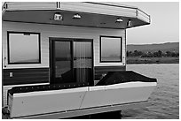 Houseboat. Redwood City,  California, USA (black and white)