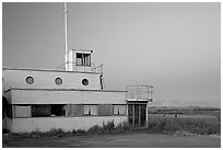 Old yacht club, Baylands Park. Palo Alto,  California, USA (black and white)