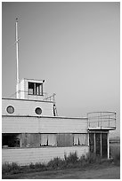 Old Yacht club, Palo Alto Baylands, dusk. Palo Alto,  California, USA ( black and white)