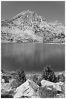 Saddlebag lake, John Muir Wilderness. California, USA ( black and white)