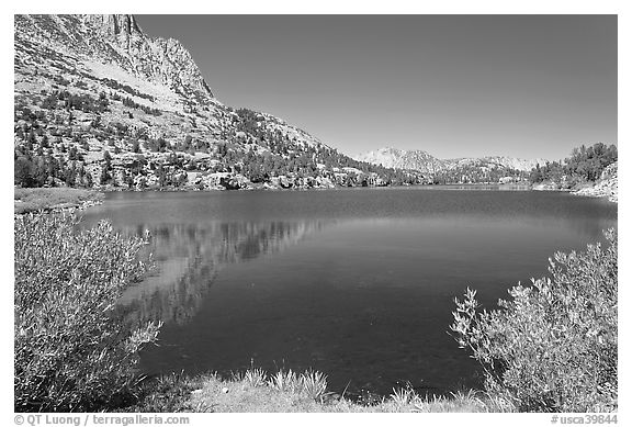 Long Lake, John Muir Wilderness. California, USA (black and white)