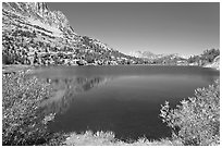 Long Lake, John Muir Wilderness. California, USA ( black and white)