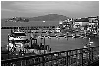 Pier 39. San Francisco, California, USA ( black and white)