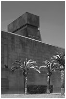 Hamon Tower and M H De Young memorial museum. San Francisco, California, USA ( black and white)
