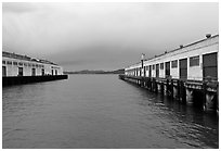 Piers, Mason Center. San Francisco, California, USA (black and white)