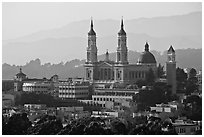 St Ignatius Church, University of San Francisco. San Francisco, California, USA (black and white)