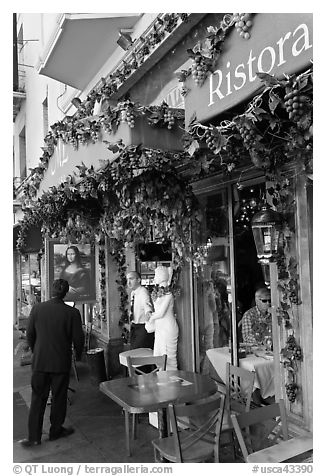 Black And White Picture Photo Italian Restaurant Little