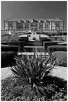 Louis XV style chateau of Domain Carneros. Napa Valley, California, USA (black and white)