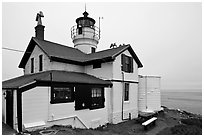 Battery Point Lighthouse, Crescent City. California, USA (black and white)