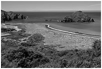 Navarro River estuary. California, USA ( black and white)