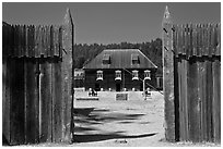 Fort Ross. Sonoma Coast, California, USA ( black and white)