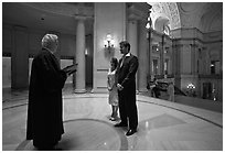 Civil wedding, City Hall. San Francisco, California, USA ( black and white)