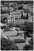 Campus seen from above. Stanford University, California, USA (black and white)