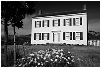 The White House of Half Moon Bay, James Johnston Homestead. Half Moon Bay, California, USA ( black and white)