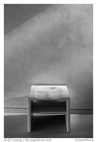 Chapel chair, Christ the Light Cathedral. Oakland, California, USA (black and white)