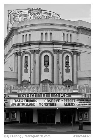 Grand Lake theater. Oakland, California, USA (black and white)