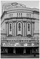 Grand Lake theater. Oakland, California, USA ( black and white)