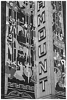 Detail of art deco mosaic, Paramount Theater. Oakland, California, USA ( black and white)