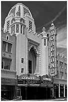 Moorish style Oakland Fox Theater. Oakland, California, USA ( black and white)