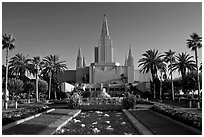 Oakland California LDS (Mormon) Temple. Oakland, California, USA (black and white)