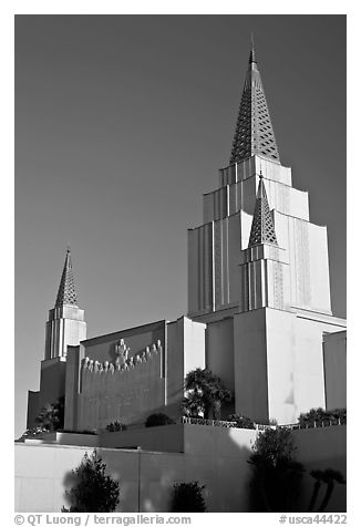 Church of Jesus Christ of Latter-Day Saints. Oakland, California, USA (black and white)