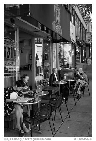 Cafe. Berkeley, California, USA (black and white)