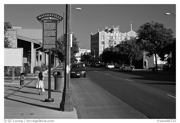 Downtown. Watsonville, California, USA (black and white)