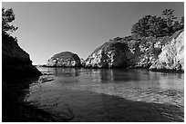 China Cove. Point Lobos State Preserve, California, USA ( black and white)