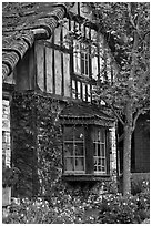 Half-timbered house. Carmel-by-the-Sea, California, USA (black and white)