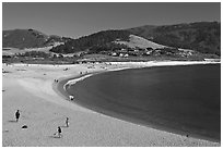 Family, Carmel River Beach. Carmel-by-the-Sea, California, USA ( black and white)