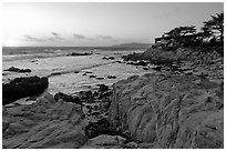 Butterfly house at sunset. Carmel-by-the-Sea, California, USA (black and white)