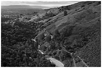Alumn Rock valley. San Jose, California, USA ( black and white)