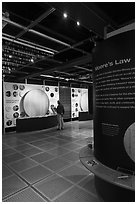 Intel Museum. Santa Clara,  California, USA ( black and white)
