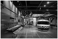 Technology exhibit, Intel Museum. Santa Clara,  California, USA ( black and white)