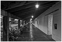 Mission gallery. Santa Clara,  California, USA ( black and white)