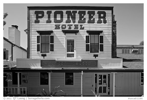 Pionneer Hotel. Woodside,  California, USA (black and white)