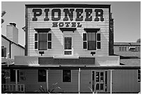 Pionneer Hotel. Woodside,  California, USA ( black and white)