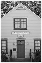 Independence Hall 1884. Woodside,  California, USA ( black and white)