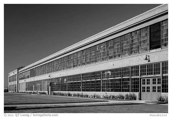 Ford Assembly Plant, Rosie the Riveter National Historical Park. Richmond, California, USA (black and white)