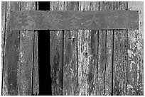 Chinese inscriptions, China Camp State Park. San Pablo Bay, California, USA (black and white)