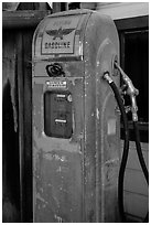 Old gas pump, China Camp State Park. San Pablo Bay, California, USA (black and white)
