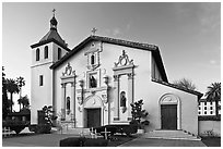Santa Clara University Mission Church. Santa Clara,  California, USA ( black and white)