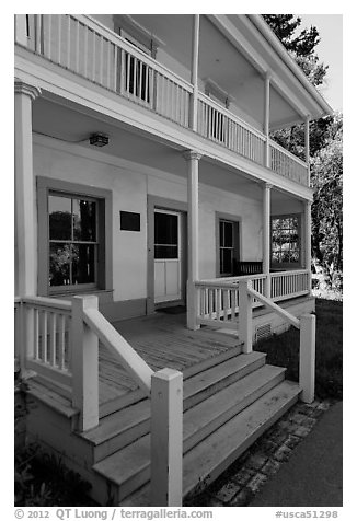Martinez Adobe, John Muir National Historic Site. Martinez, California, USA (black and white)