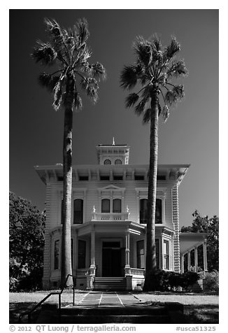 John Muir Home, John Muir National Historic Site. Martinez, California, USA (black and white)