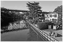 Soquel Creek. Capitola, California, USA ( black and white)